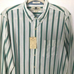 NWT CR CLUB ROOM Mens FITTED Button Up Shirts sz L